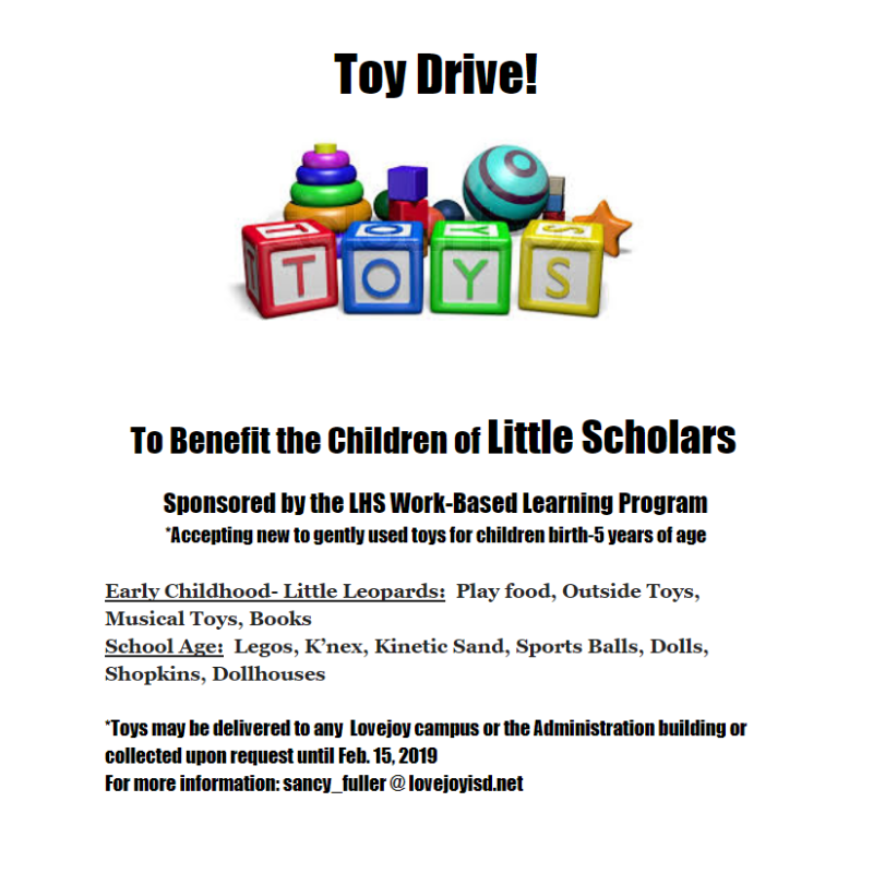 Toy Drive Benefiting the Children of Little Scholars