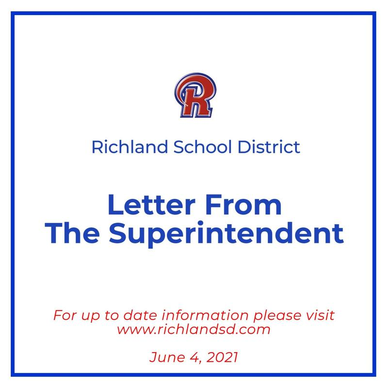 Letter from the Superintendent - June 4, 2021 Featured Photo
