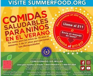 Free Meals for Kids Spanish