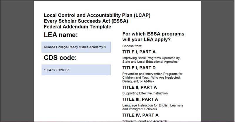 LCAP Federal Addendum Thumbnail Image