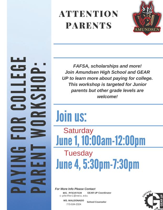 Attention Junior Parents!  Please come to our Upcoming Parent Workshop,