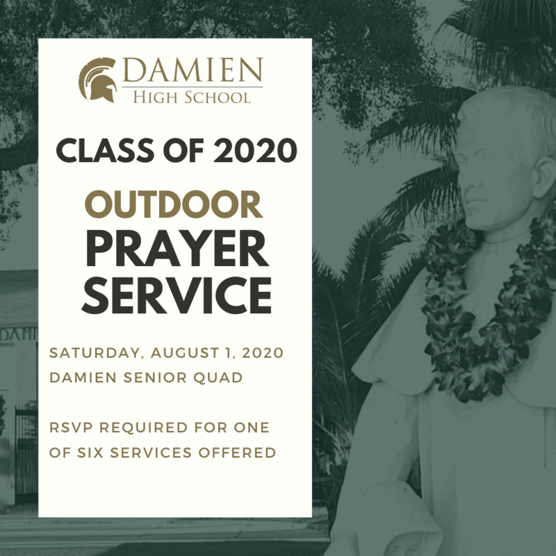 RSVP for our Class of 2020 Senior Prayer Services - Saturday, August 1, 2020 Featured Photo