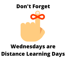 Wednesdays are Distance Learning days for ALL students Featured Photo
