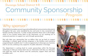 Image of the front page of the sponsorship packet.