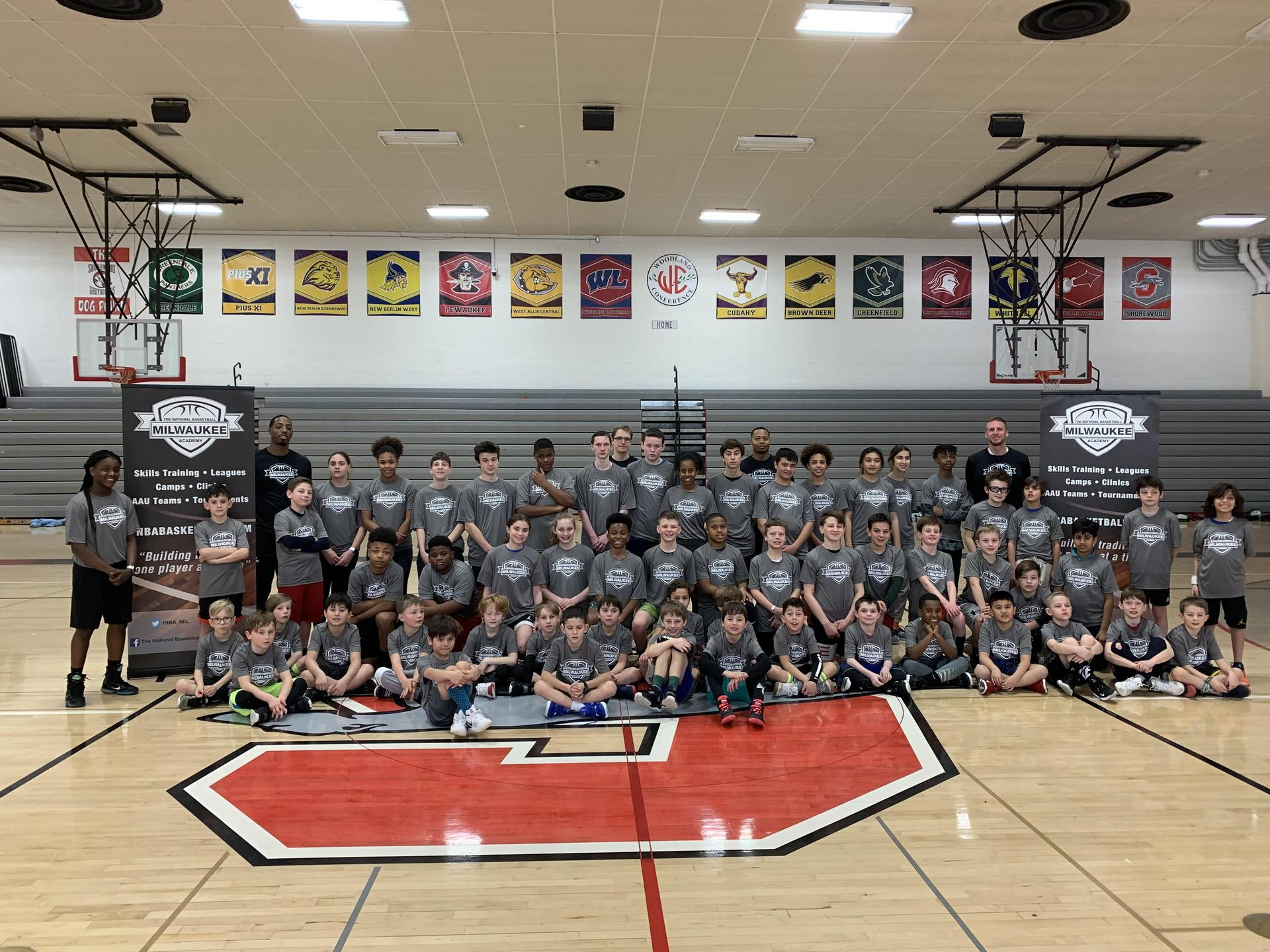 President's Day Basketball Clinic Group Photo