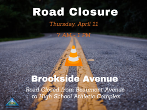 Highway, Traffic Cone, and information on road closure