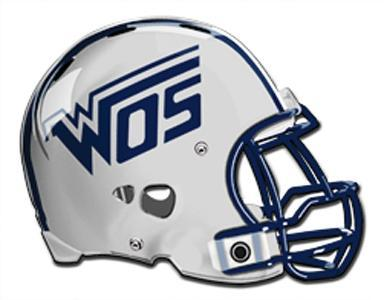 WOS football helmet