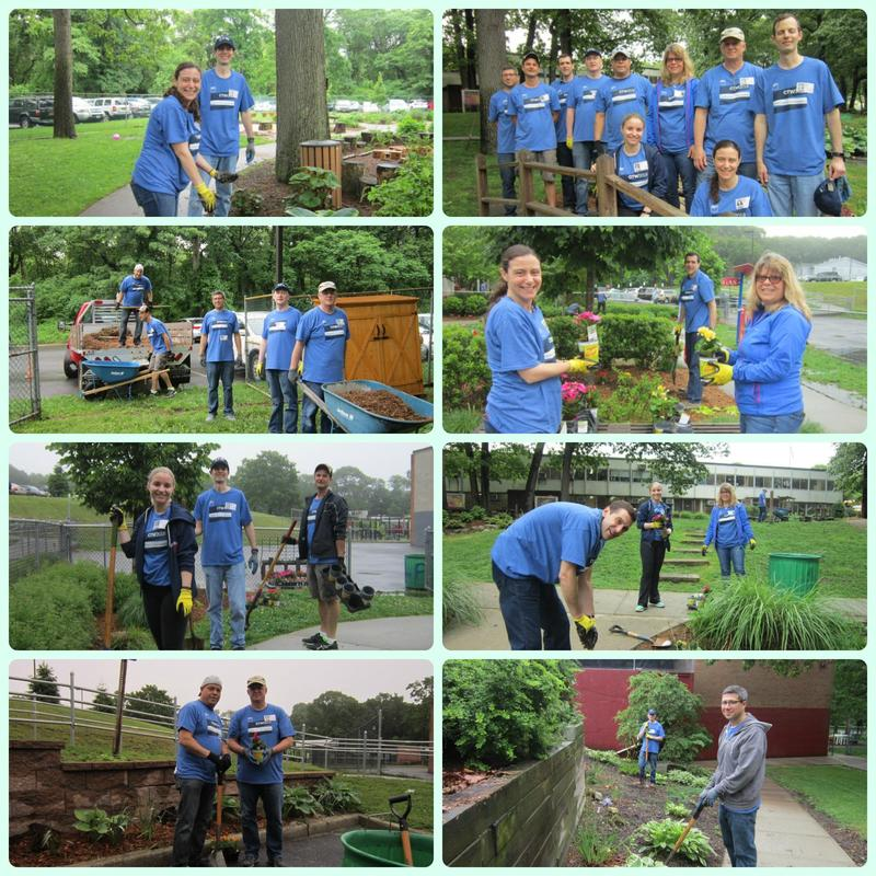Collage of volunteers from Goldman Sachs