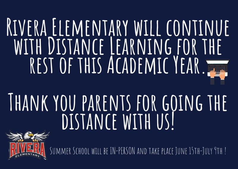 Distance Learning for rest of 2020-21 academic year!