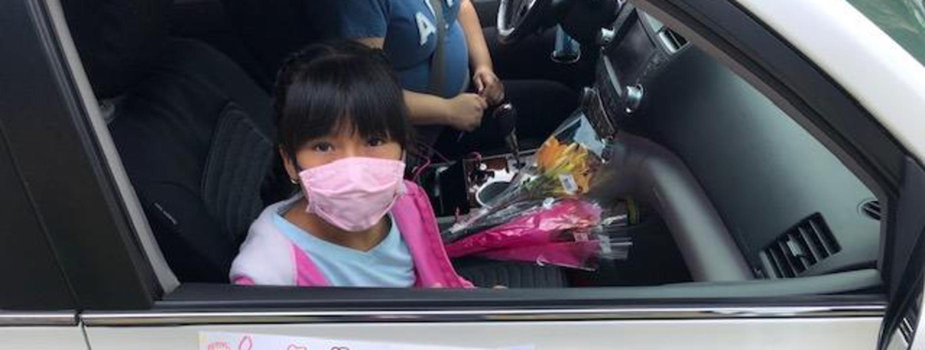 Marguerita student during Drive-Thru event