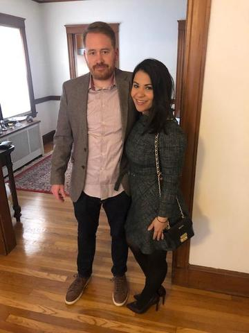Mr. Roach and his wife, before a night out