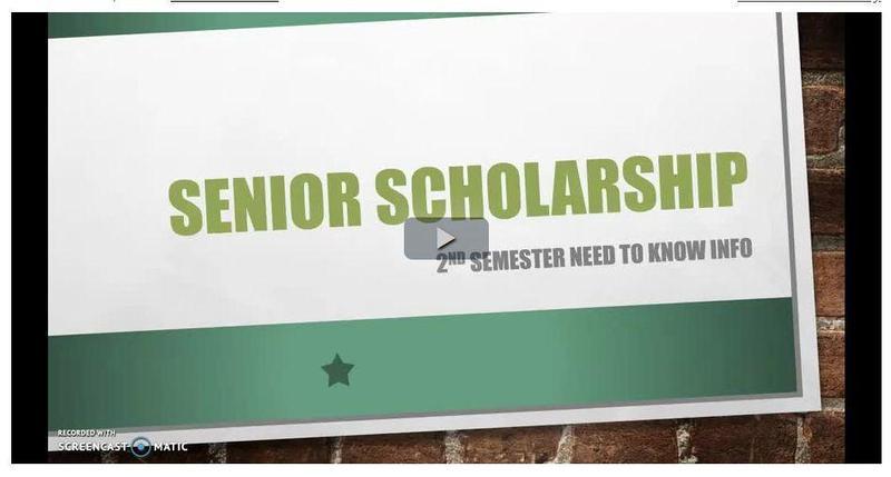 Senior Scholarships Video Featured Photo