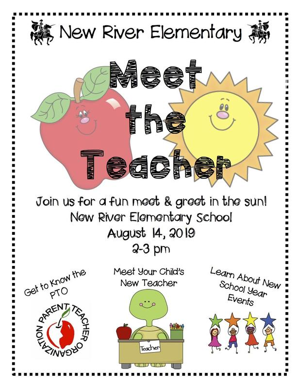 Flyer with Information about Meet the Teacher Event