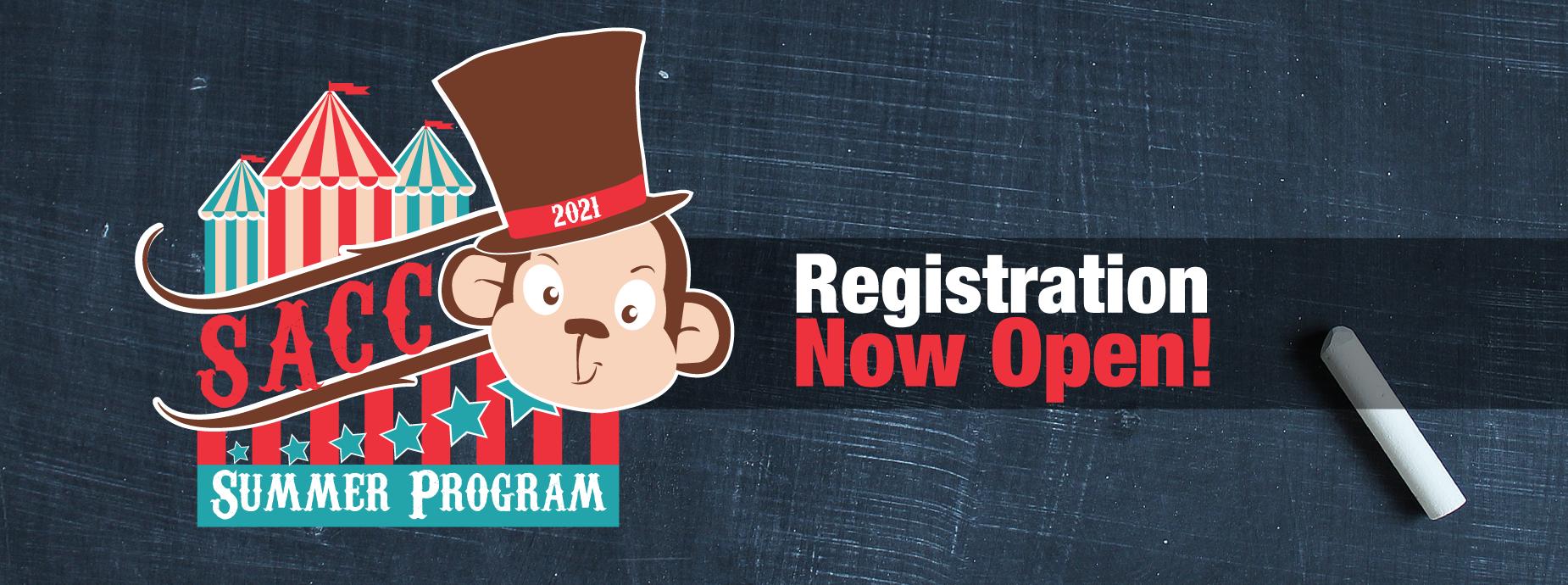 SACC Summer Program Registration Open Banner