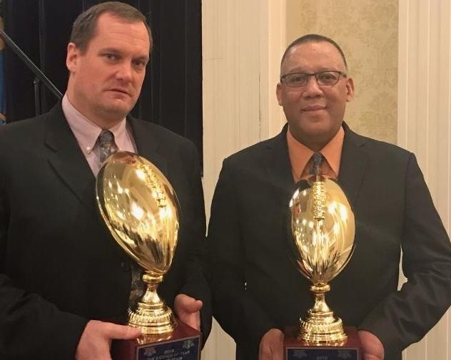 Ritter and Moffett with state championship trophies