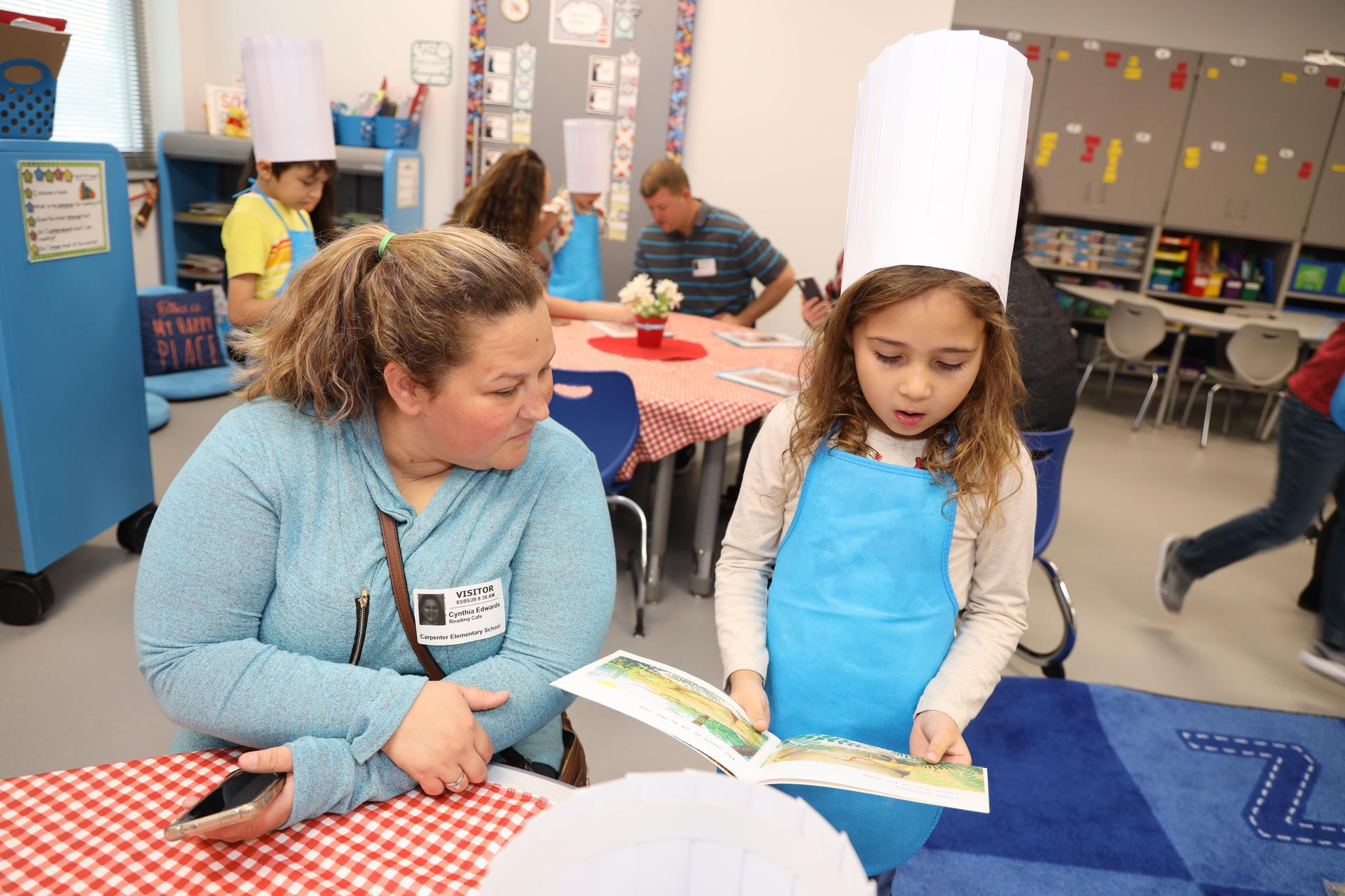 Carpenter Elementary 1st-grade Reading Cafe