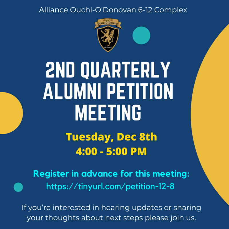 2nd quarterly Alumni Petition Meeting on Tuesday, December 8, 2020 Thumbnail Image