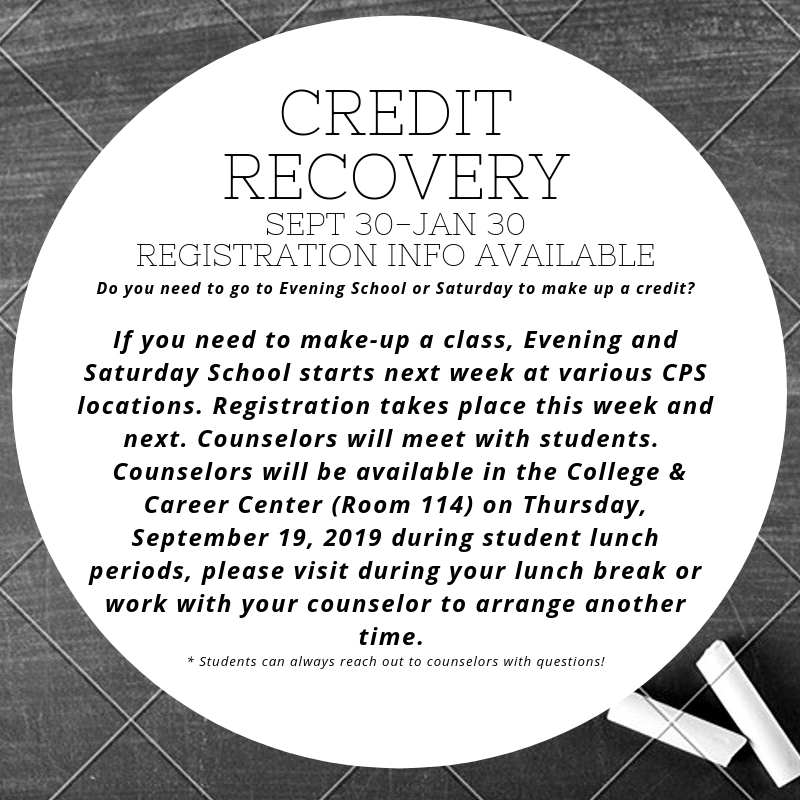 Students:  Do you need to make up a credit? Featured Photo
