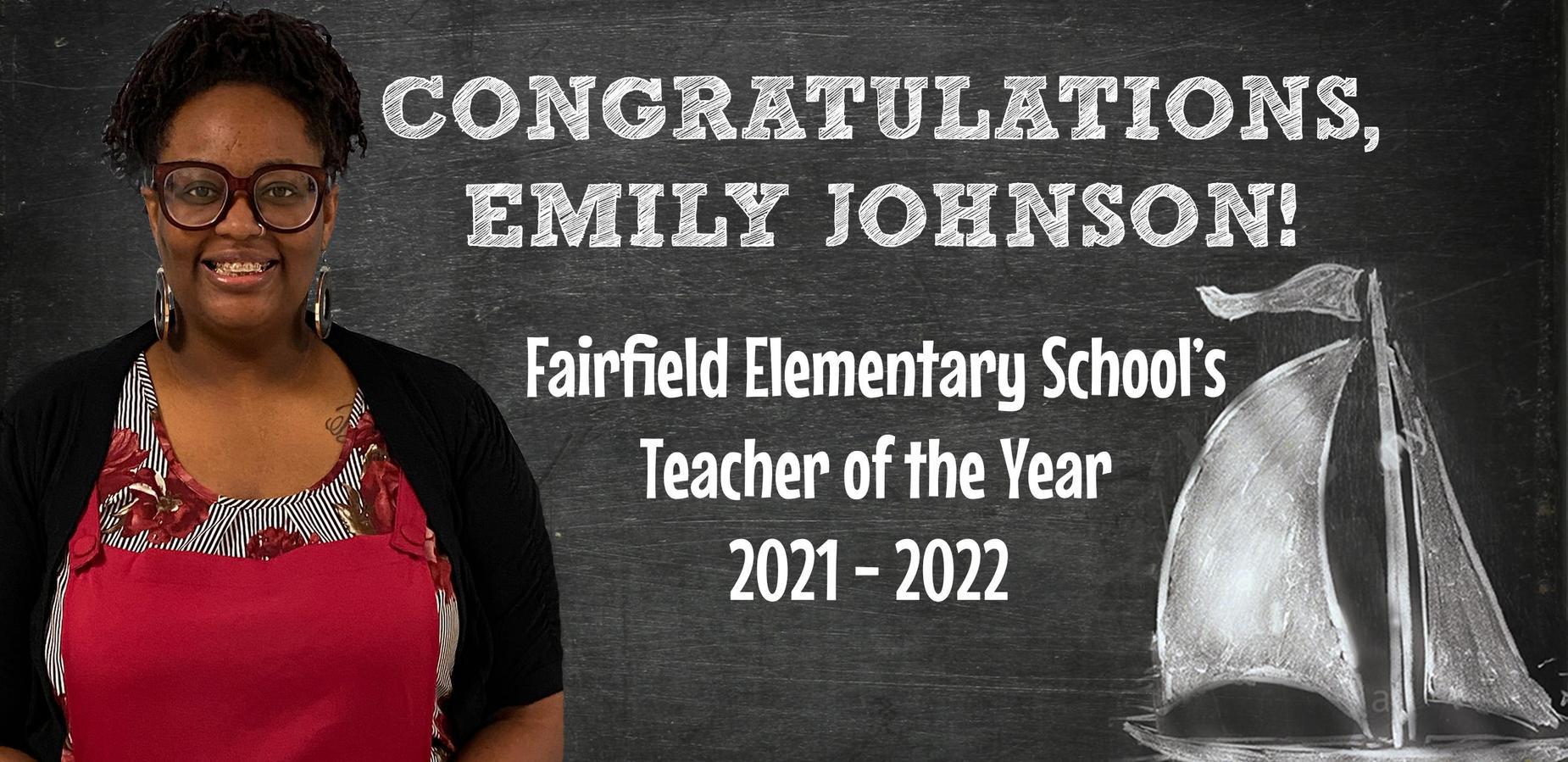 2021-2022 FES Teacher of the Year, Emily Johnson