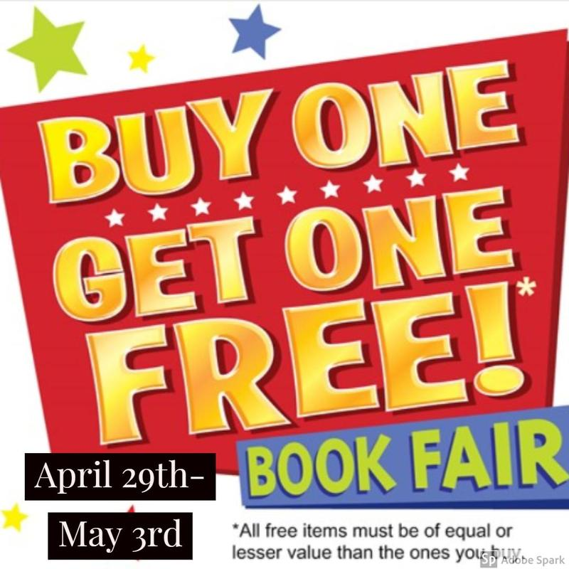 Buy one Get one FREE Book Fair! Thumbnail Image