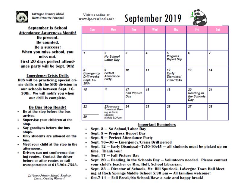 Sept. Calendar