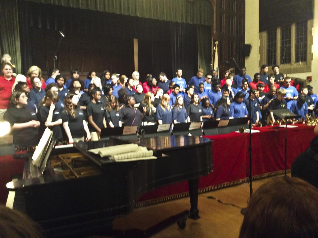 A view of the united choruses from the front row