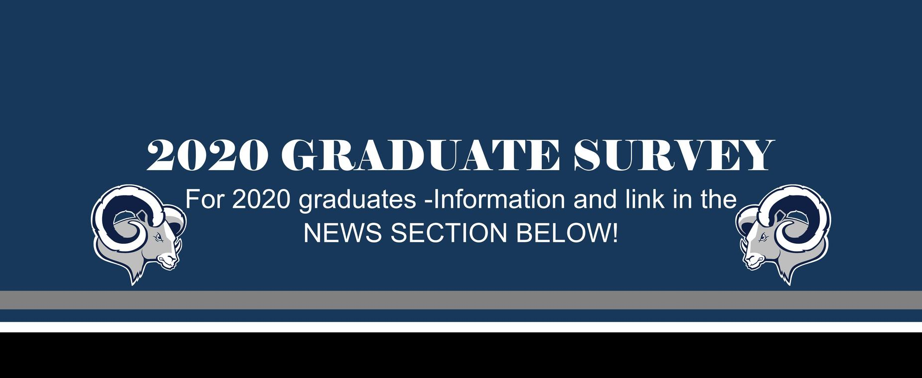 2020 Grad Survey Available in news section