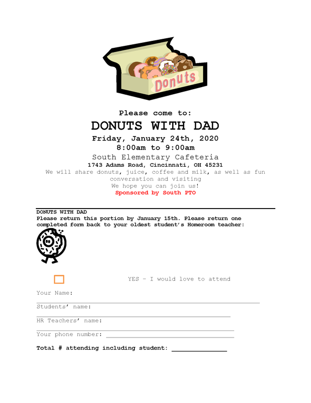 flyer for donuts with dad