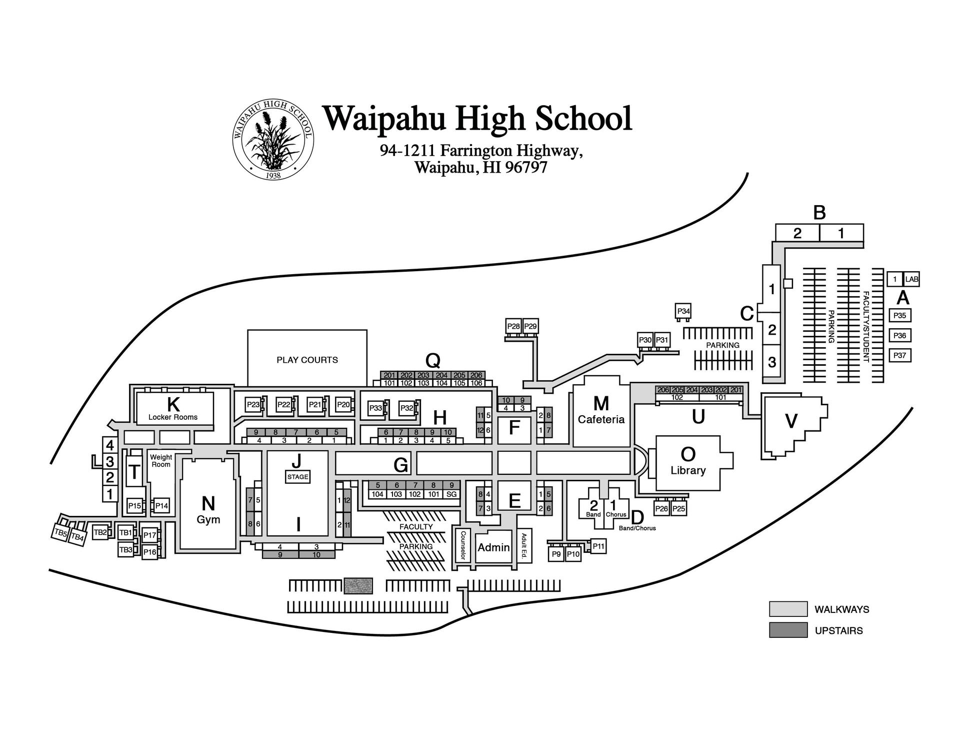 WHS Campus Map
