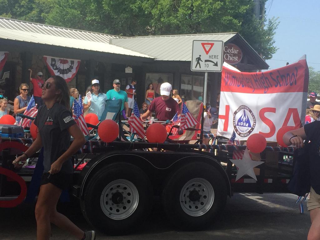 Wimberley High School HOSA in 4th of July Parade