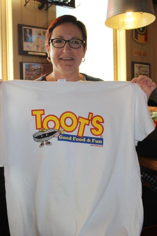 Director of School Health Services Sarah Delbridge supporting Area 16 Special Olympics at Toots - a fundraising event!