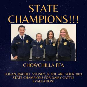 State Champion Dairy Judging Team