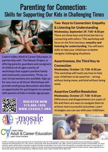 Parenting for Connection workshop flyer
