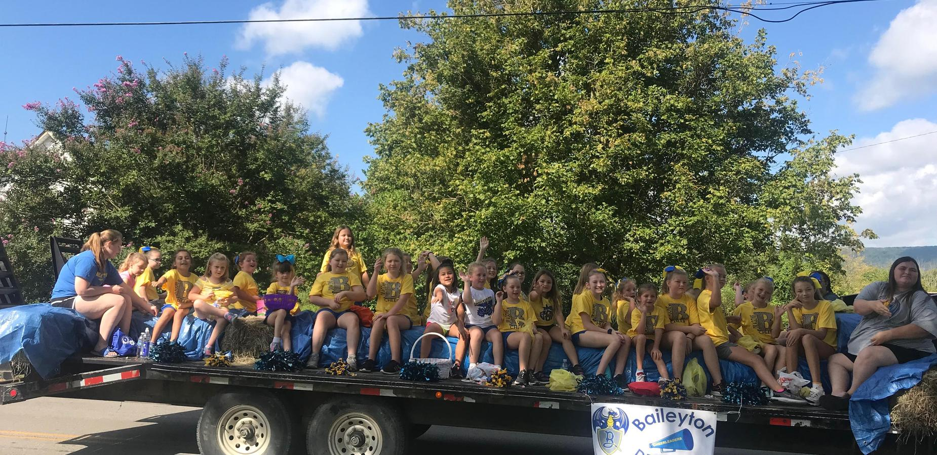 Cheer Team in the parade!