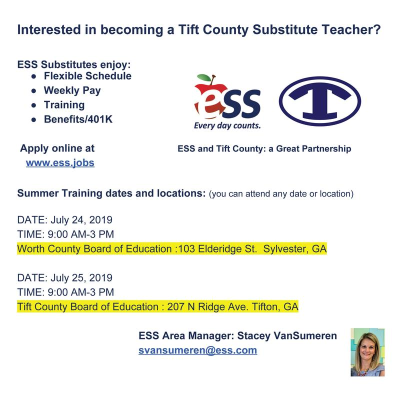 Are you interested in being a Tift County Substitute Teacher? Featured Photo