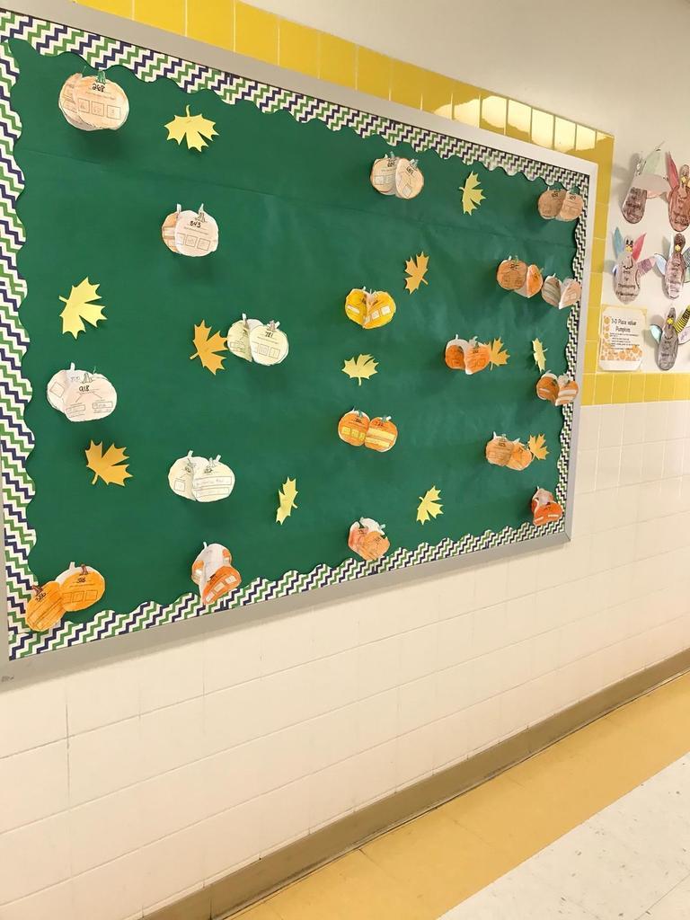 pumpkin math activity bulletin board