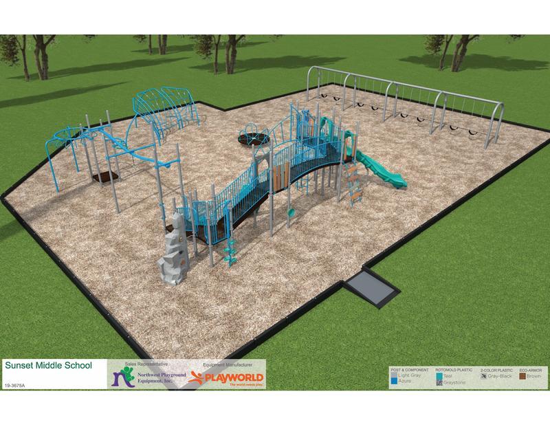Sunset School Playground Rendering