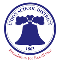 Union School Logo with blue bell and Union School District.