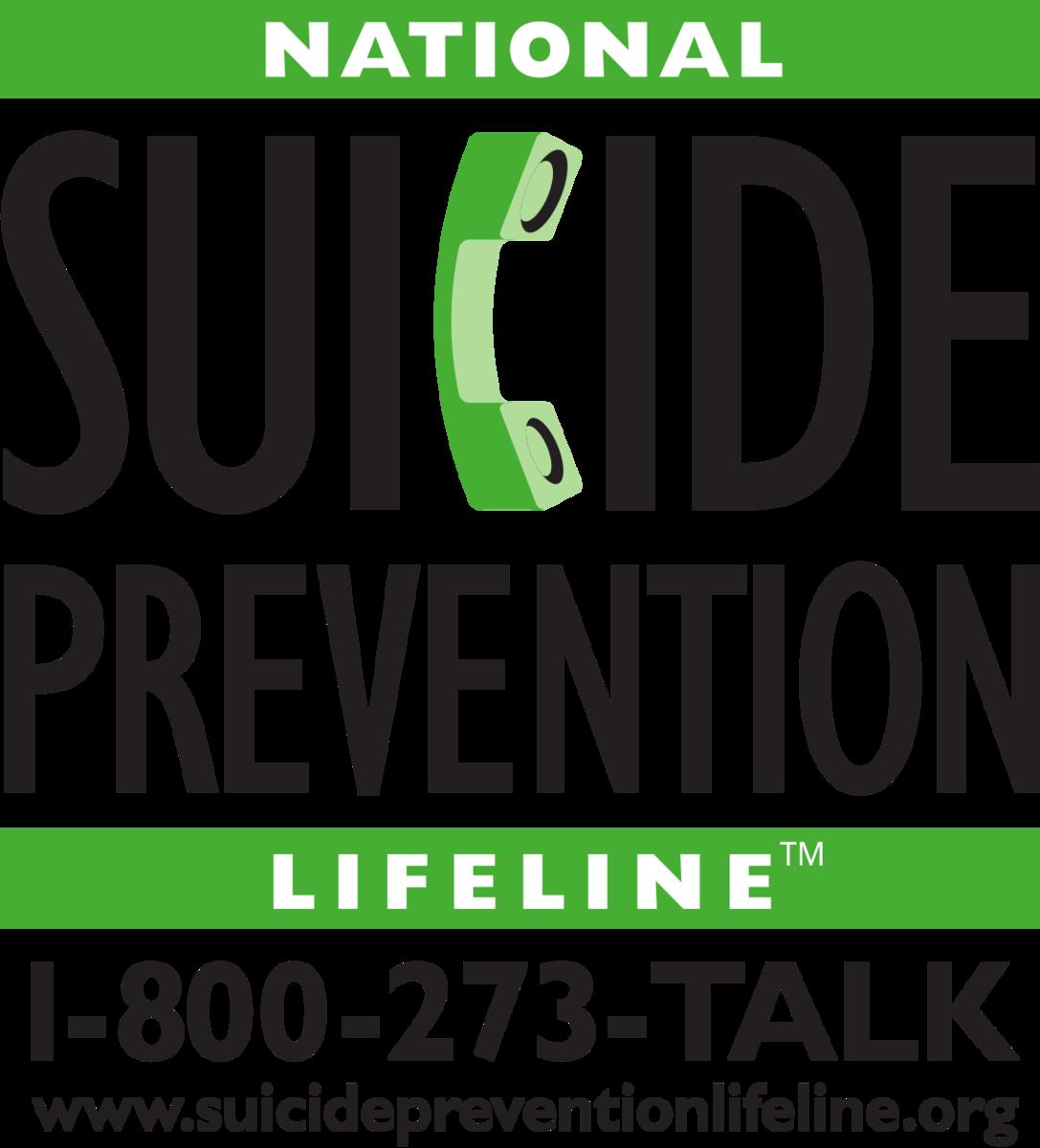 National Suicide Prevention Lifeline 800-273-8255