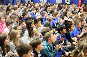 Jefferson School kicked off The Great Kindness Challenge with an assembly focusing on the 6 Pillars of Character -- trustworthiness, respect, responsibility, fairness, caring, and citizenship