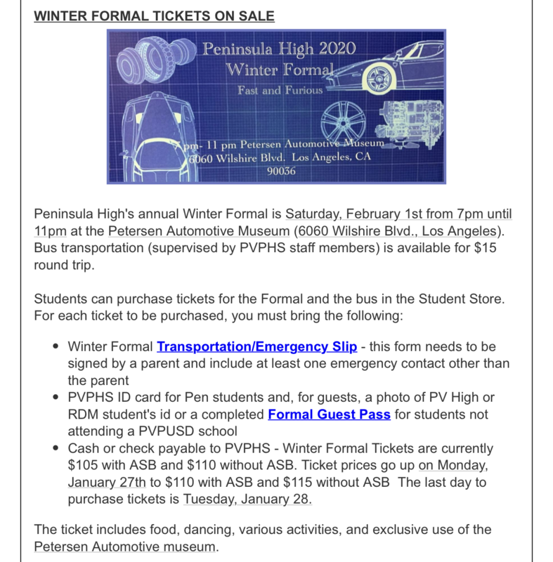 PVPHS Winter formal tickets are on sale now Thumbnail Image