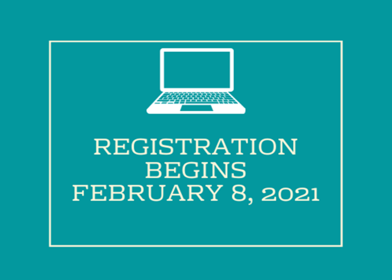 Registration for the 2021/2022 School Year Begins February 8th. Thumbnail Image