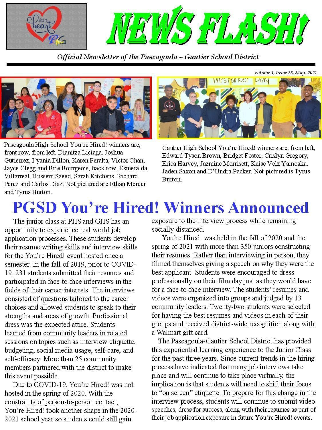 PGSD You're Hired! Winners Announced