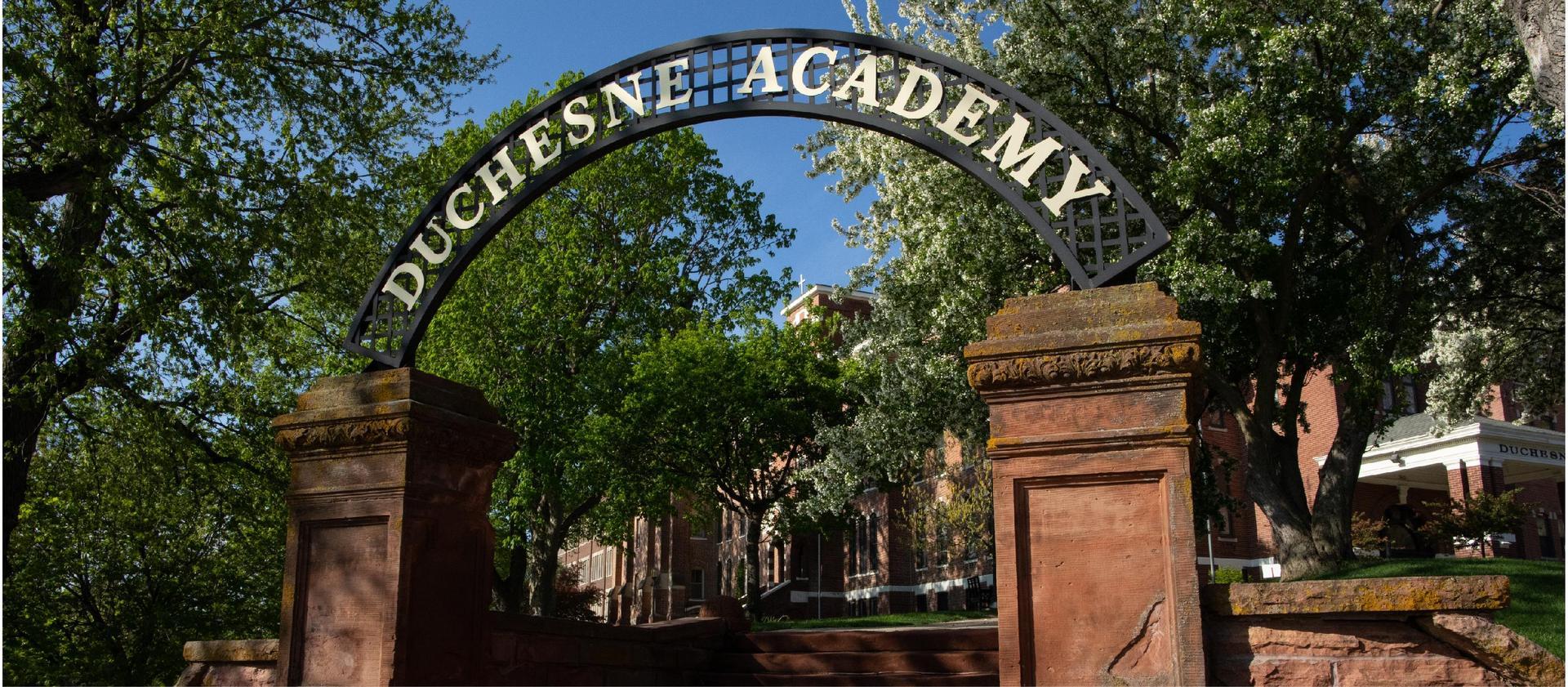 Duchesne Academy sign