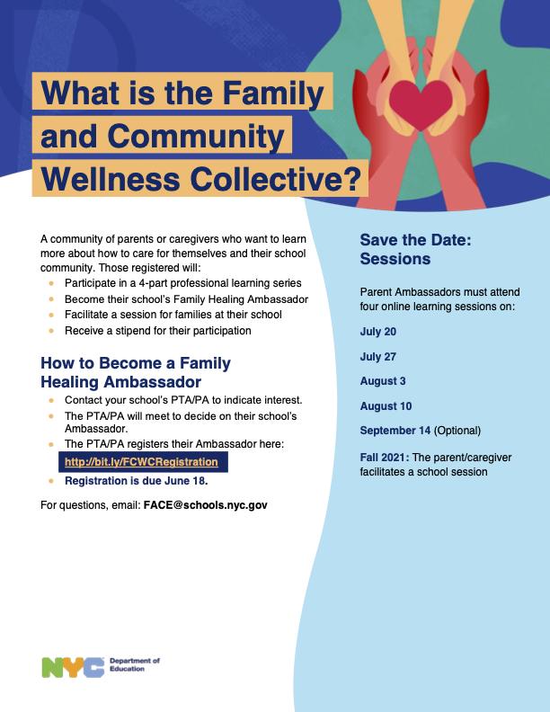 a flyer describing the process on how to become a healing ambassador