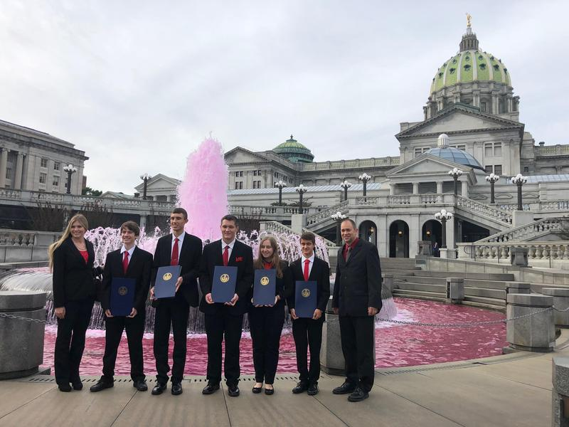 Carmichaels State Champion Envirothon team recognized at State Capitol Thumbnail Image