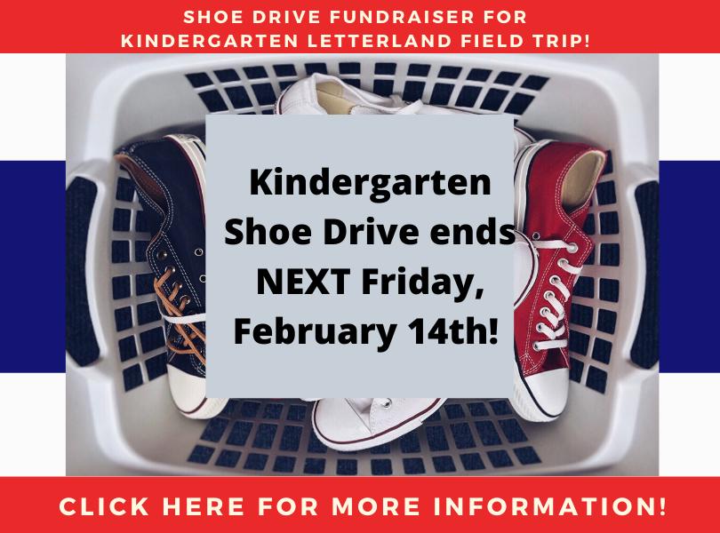 Kindergarten Shoe Drive