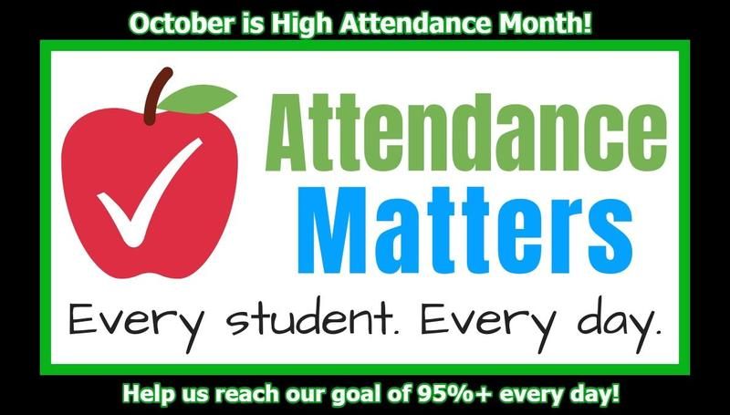 October is High Attendance Month! Featured Photo