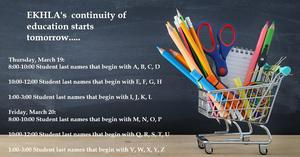 cart with School Supplies