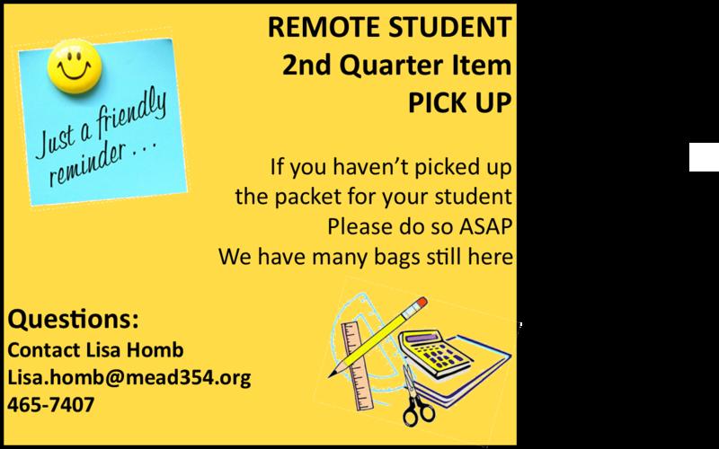 Reminder Remote Student Pick Up